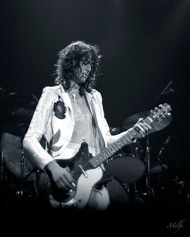 Led Zeppelin guitarist Jimmy Page.  Photo by Frank Melfi - use by permission of Frank Melfi