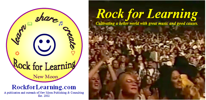 Rock for Learning - promoting great music, good causes and learning whatever it takes for a better world.  Now featuring artists: OASIS, ROBERT PLANT, KEANE, HOT HOT HEAT, RYAN ADAMS, and more...
